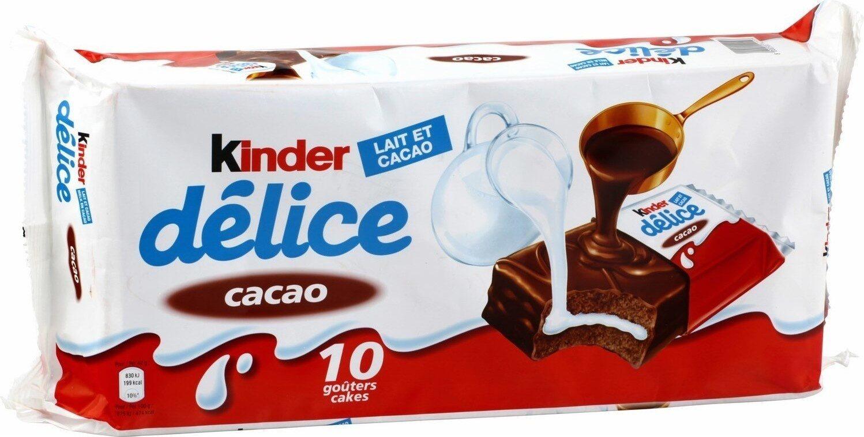 Petit gâteau enrobé au cacao et fourré au lait - Produit - fr