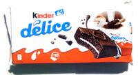 Kinder delice cacao gateau enrobe au cacao et fourre au lait t10 pack de 10 pieces - Tuote - fi