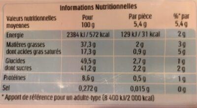 Kinder bueno mini - Valori nutrizionali - fr