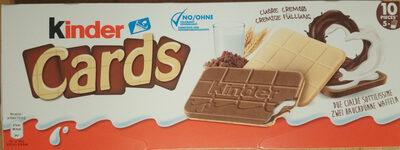 KINDER CARDS CHOCOLAT BISCUIT CROUSTILLANT AVEC FOURRAGE ONCTUEUX AU LAIT ET AU CACAO (2x5) - Produkt - de