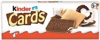 KINDER CARDS CHOCOLAT BISCUIT CROUSTILLANT AVEC FOURRAGE ONCTUEUX AU LAIT ET AU CACAO (2x5) - Product - fr