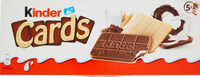 KINDER CARDS CHOCOLAT BISCUIT CROUSTILLANT AVEC FOURRAGE ONCTUEUX AU LAIT ET AU CACAO (2x5) - Producto - fr