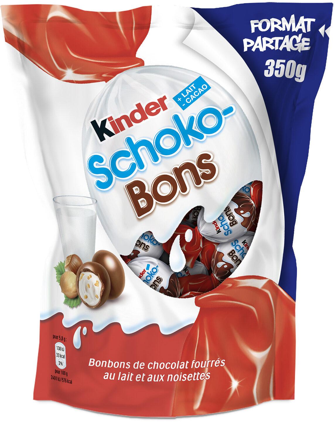 Kinder schokobons bonbons de chocolat au lait fourres lait et noisettes sachet - Produit - fr