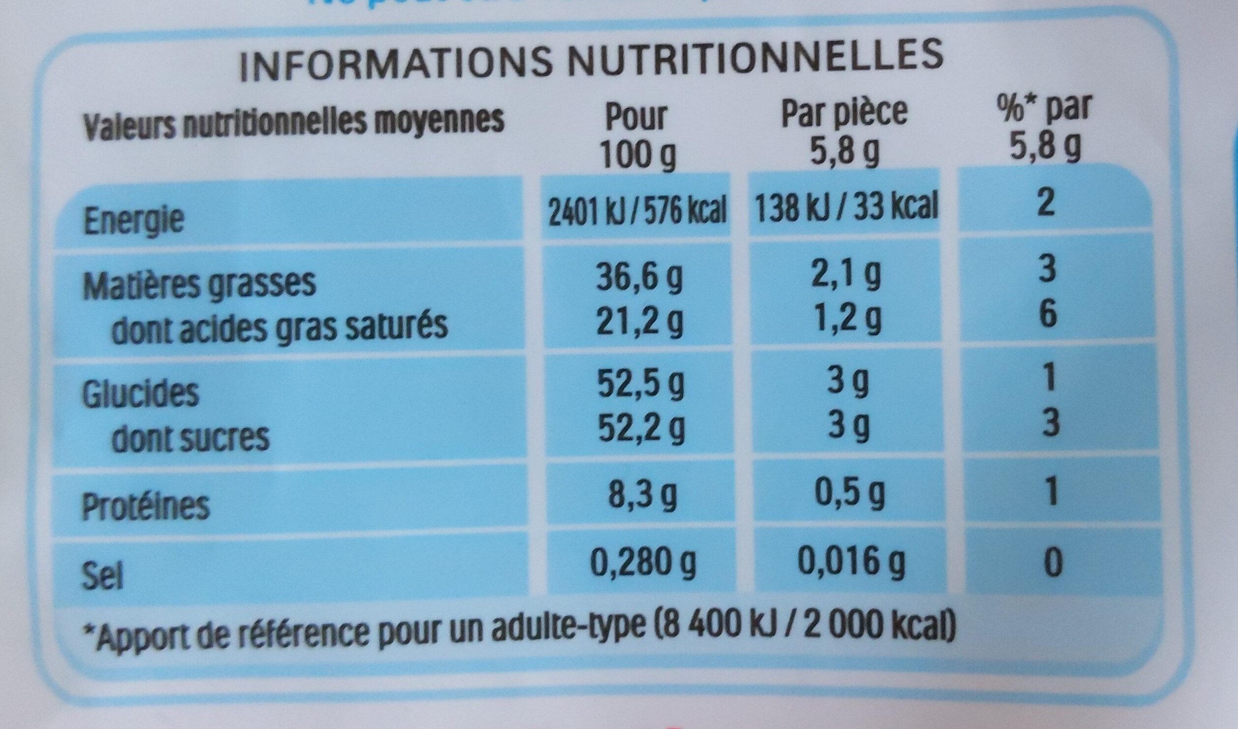 Kinder schokobons bonbons de chocolat au lait fourres lait et noisettes sachet - Informations nutritionnelles - fr