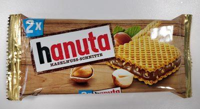 2x Hanuta Haselnuss-Schnitte - Produit