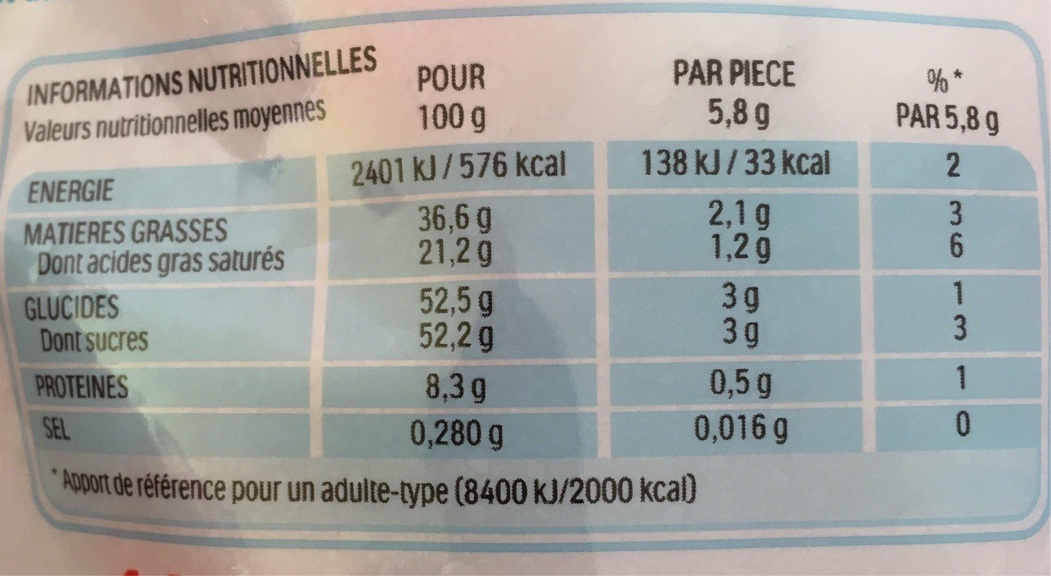 Kinder Schoko-Bons - Valori nutrizionali - fr