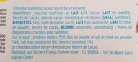 Kinder Choco fresh - Ingredienti - fr