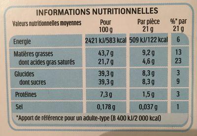 Kinder Choco fresh - Valori nutrizionali - fr