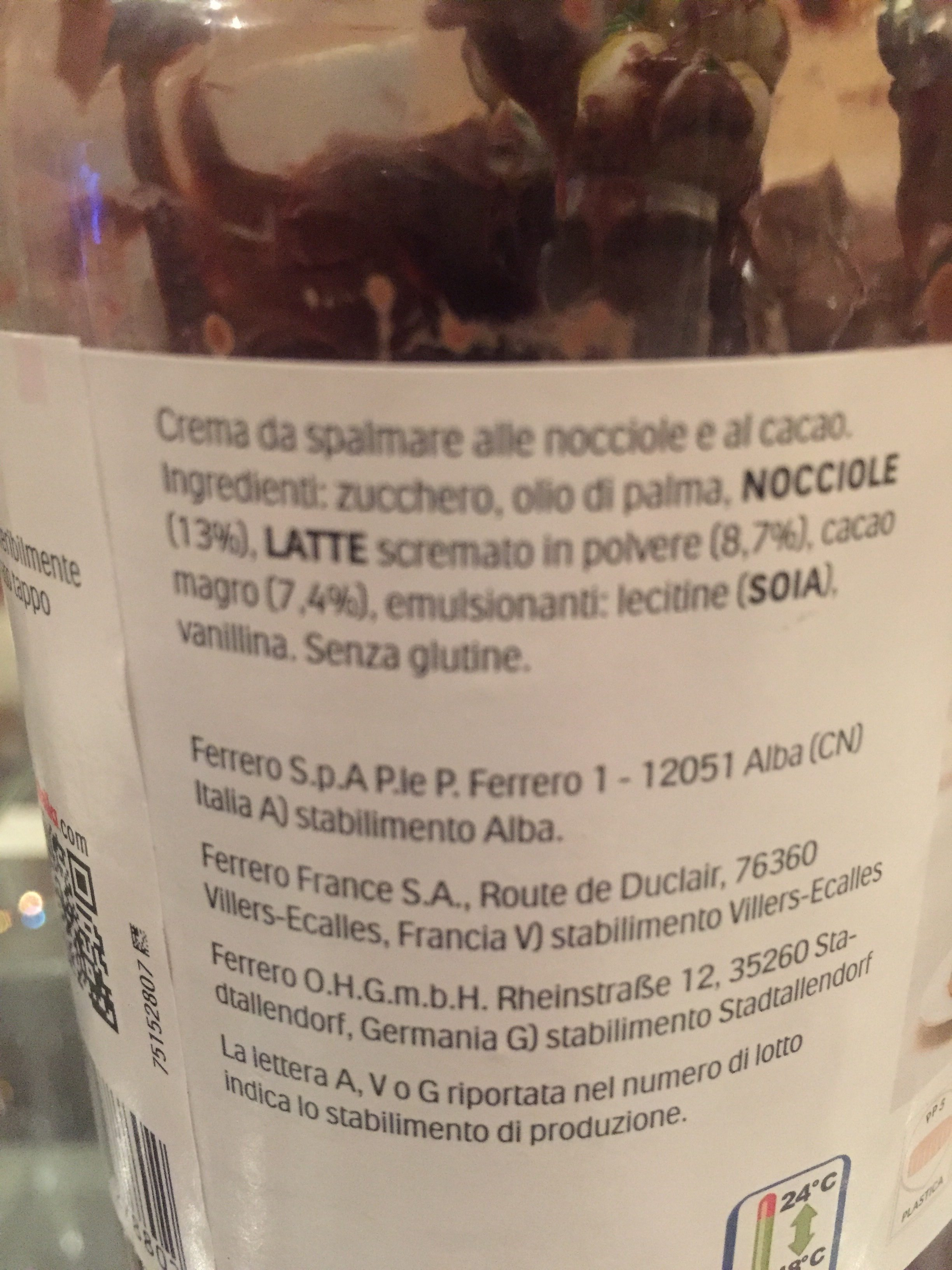 Nutella GR950 Gran Formato - Ingredienti - fr