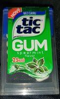 Tic Tac GUM spearmint flavor - Product - fr