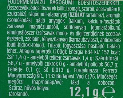Tic Tac GUM spearmint flavor - Voedingswaarden - fr