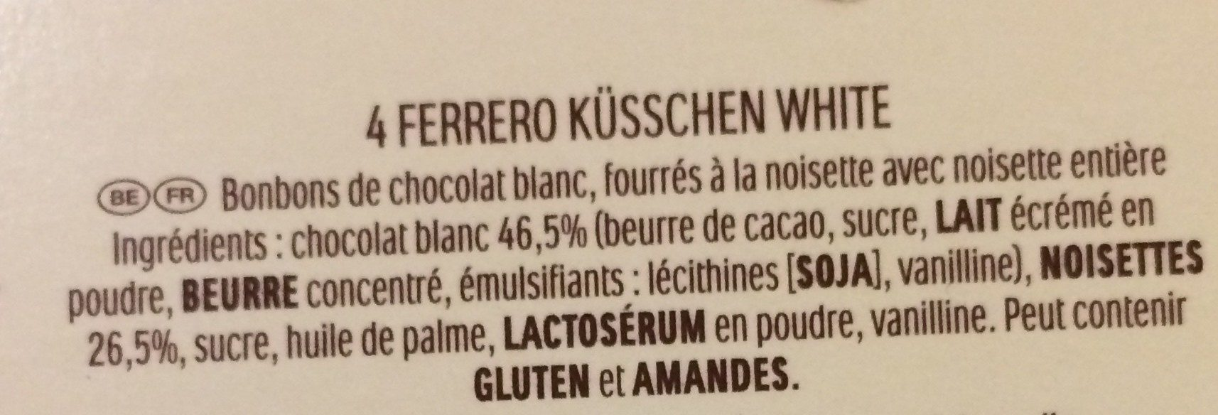 Calendrier de l avent - Ingredients