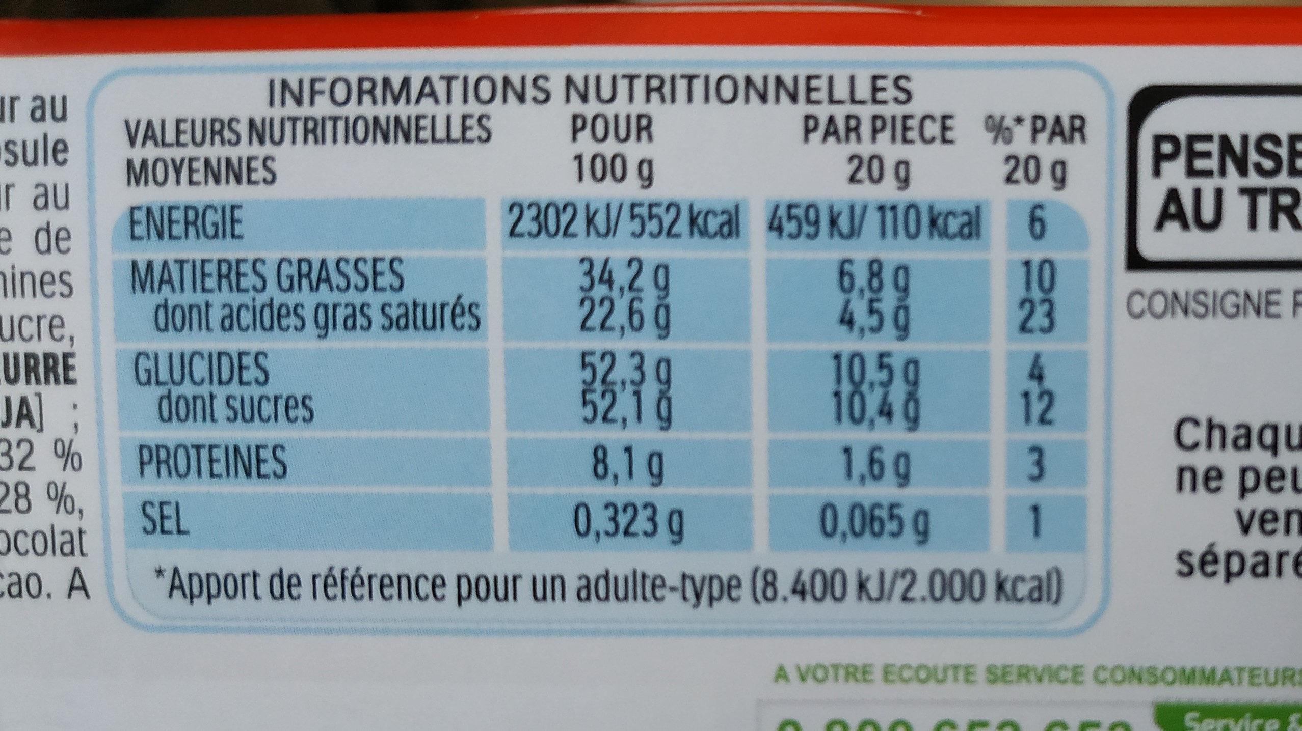kinder surprise - Informations nutritionnelles - fr