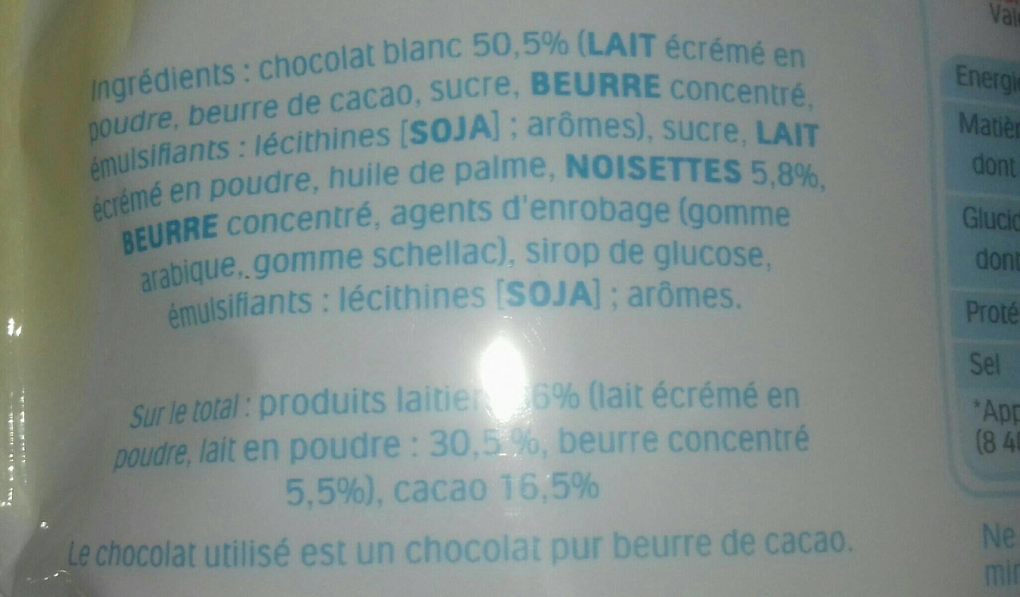 Kinder Schoko-Bons White - Ingrédients