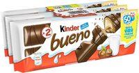 Kinder bueno gaufrettes enrobees de chocolat 6 x2 barres - Prodotto - fr