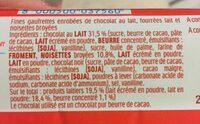 Kinder bueno gaufrettes enrobees de chocolat 6 x2 barres - Ingredienti - fr