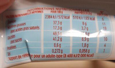 Kinder bueno gaufrettes enrobees de chocolat 6 x2 barres - Valori nutrizionali - fr