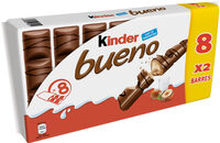 Kinder bueno gaufrettes enrobees de chocolat 8 x2 barres - Product - fr