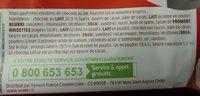 Kinder bueno gaufrettes enrobees de chocolat 8 x2 barres - Ingrediënten - fr