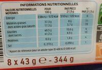 Kinder bueno gaufrettes enrobees de chocolat 8 x2 barres - Voedingswaarden - fr