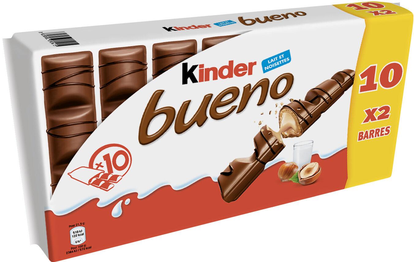 Kinder bueno gaufrettes enrobees de chocolat 10 x2 barres - Product - fr