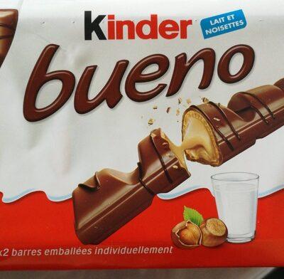 Kinder bueno gaufrettes enrobees de chocolat 10 x2 barres - Produit - fr