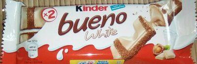 Kinder bueno white gaufrettes enrobees de chocolat blanc 3 x2 barres - Product - fr