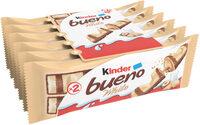 Kinder bueno white gaufrettes enrobees de chocolat blanc 6 x2 barres - Prodotto - fr