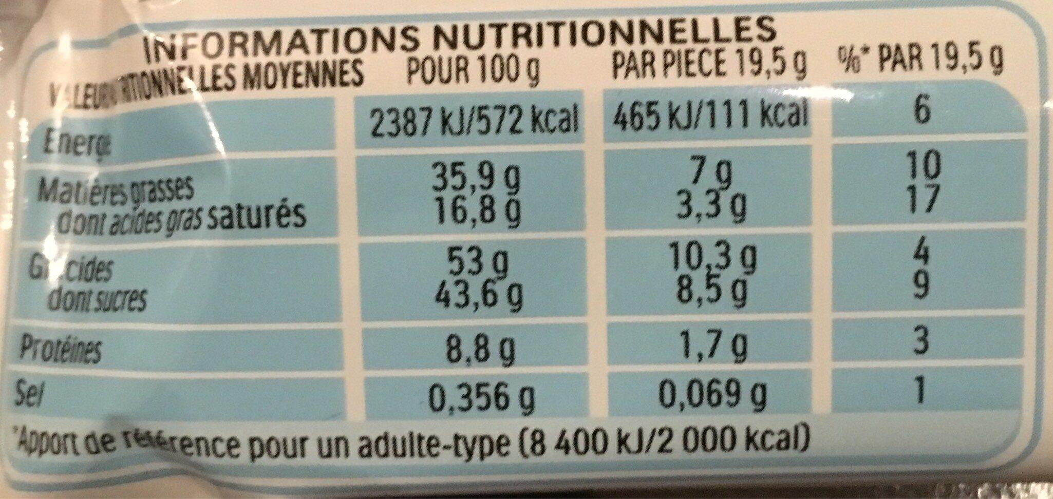 Kinder bueno white gaufrettes enrobees de chocolat blanc 8 x2 barres - Informations nutritionnelles - fr