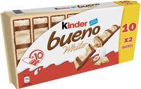 Kinder bueno white gaufrettes enrobees de chocolat blanc 10 x2 barres - Product - fr
