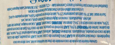 Kinder pingui coco gouter frais genoise fourree lait et noix de coco enrobee de chocolat superieur au lait avec decor au coco t4 pack de 4 - Ingrédients - fr