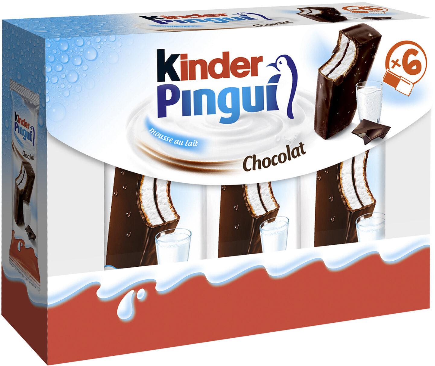 Kinder pingui gouter frais genoise avec chocolat noir extra, fourree lait et cacao t6 pack de 6 etuis - Prodotto - fr