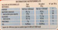 Kinder pingui gouter frais genoise avec chocolat noir extra, fourree lait et cacao t8 pack de 8 etuis - Valori nutrizionali - fr