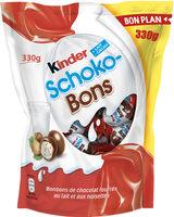 Kinder schokobons bonbons de chocolat au lait fourres lait et noisettes sachet - Prodotto - fr