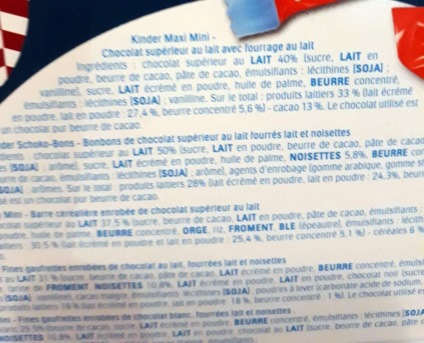 Happy moments minimix - Ingredients - fr