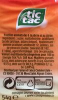 Mixers Peche Limo - Ingrediënten