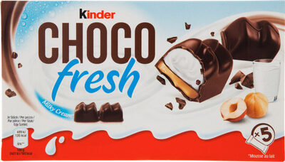Kinder chocofresh gouter frais chocolat superieur au lait fourre lait et noisette t5 pack de 5 etuis - Prodotto - fr