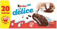 Kinder delice cacao gateau enrobe au cacao et fourre au lait t20 pack de 20 pieces - Produkt - fr