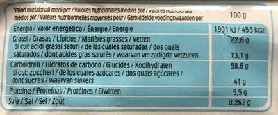 Kinder Delice Cacao - Wartości odżywcze - fr