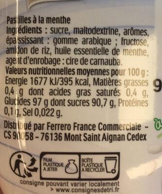 Tic Tac Menthe Box - Ingrédients - fr