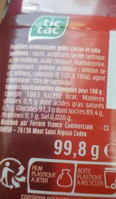 Tic tac mixers cerise cola box de 205 - 3