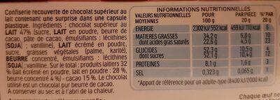 Kinder surprise - Voedingswaarden - fr