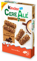 Kinder cereale chocolat noir biscuit petit dejeuner aux cereales et pepites de chocolat noir (2x6) pack de 6x2 biscuits - Prodotto - fr