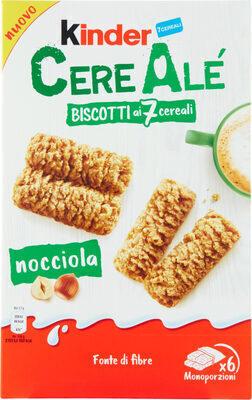 Kinder cereale noisette biscuit petit dejeuner aux cereales et noisettes t(2 x6) pack de 6x2 biscuits - Product - fr