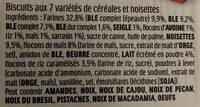 Kinder cereale noisette biscuit petit dejeuner aux cereales et noisettes t(2 x6) pack de 6x2 biscuits - Ingredients - fr