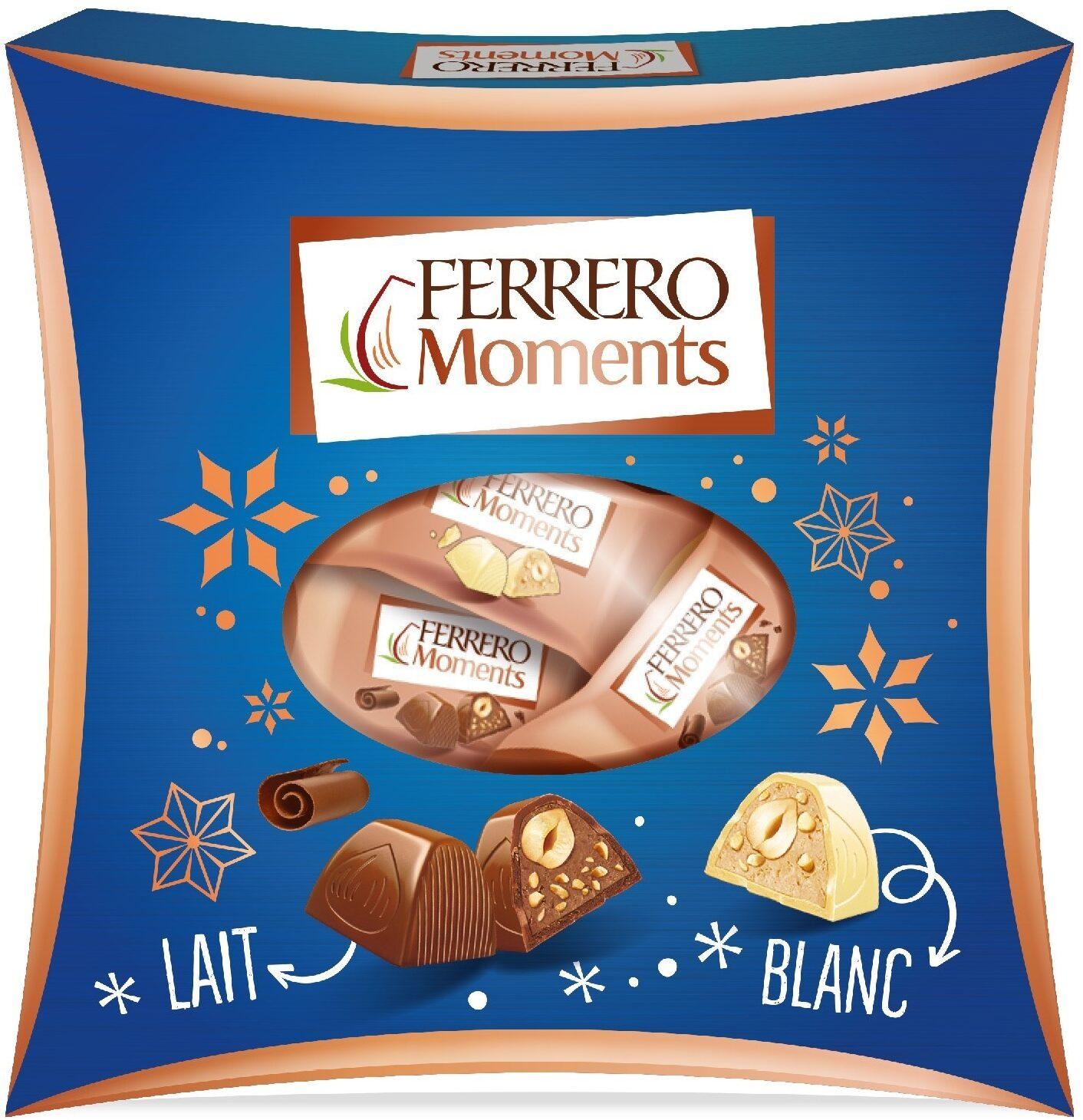 Ferrero moments bonbons de chocolat avec noisette entiere lait/blanc/noir boite de 21 pieces - Produkt - fr