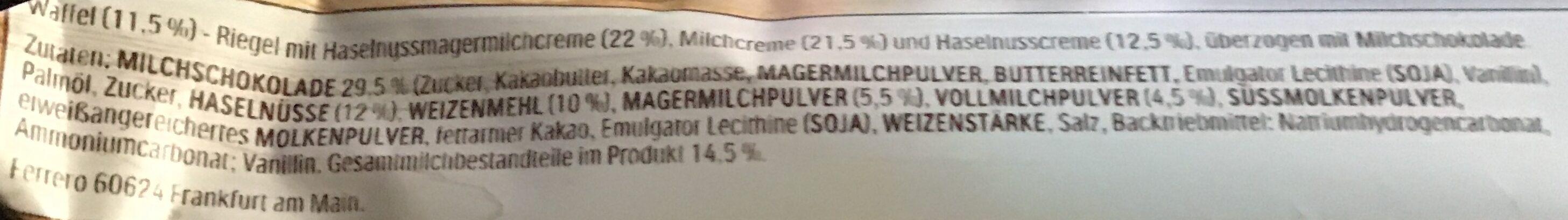 Hanuta Riegel - Ingrediënten - de