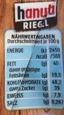 Hanuta Riegel - Voedingswaarden - de