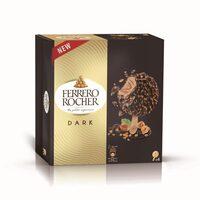 Ferrero rocher glace noisette et chocolat noir x4 - Produit - fr