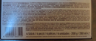 Ferrero rocher glace noisette et chocolat noir x4 - Ingrédients - fr